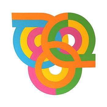 Venn on Acrylic 80cm x 80cm