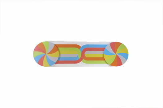 Long bendy double header colour wheel (curly wurly 1)